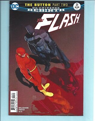 Flash #21 Nm Variant Mikel Janin International Cover The Button Part Two