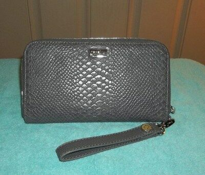 """THIRTY ONE Jewell 'All About The Benjamins' City Charcoal Snake Wallet  8""""x5"""""""