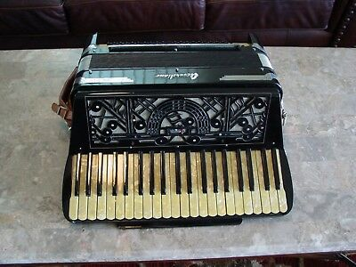 "Accordiana by Excelsior 17 1/2"" keyboard Musette Deco survivor accordion"