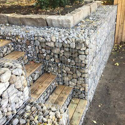 New Gabion Basket Cage Retaining Wall 4mm Strong Metal 1000x500x300 Galfan Steel
