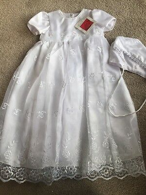 BNWT Girls White Christening Set By ISABELLE ROSE (12-18 Mths) *REDUCED*