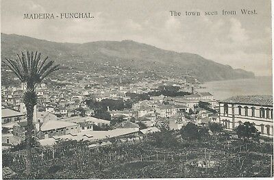 alte AK Funchal Madeira 1922, The town seen from West