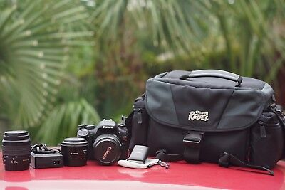 Canon EOS Rebel T2i / w/50mm 1.8, 18-55mm ,35-80mm, 90ex flash, bag & more