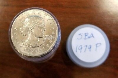 1979-P - Roll of 25 Susan B Anthony (SBA) $1 Dollar Coins in Tube