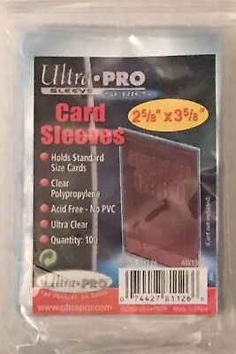 Ultra Pro Sports Card Soft Sleeves 2 5/8 X 3 5/8 100 - 500 Choose Quantity