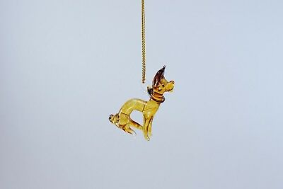 Hanging Chihuahua Figurine of Blown Glass