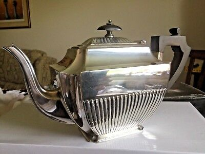 "ATKIN BROTHERS ""SHEFFIELD"" ART DECO SILVER PLATE TEAPOT MADE in ENGLAND EPNS"