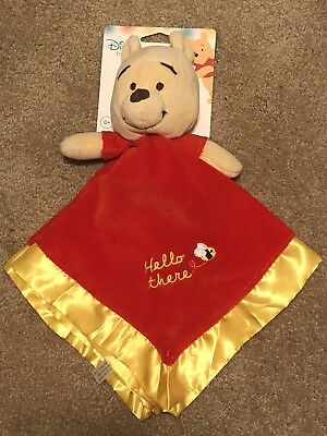 Disney Winnie The Pooh New Baby Blanky 0+ Security Blanket NWT Shower Gift
