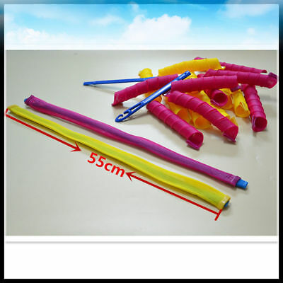 Lot 18pcs 55cm Hair Rollers Long Hair Curlers for Hair Styling Cheap Tools To1