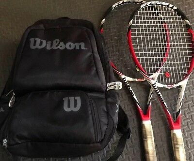 Racket Wilson Steam 99 Tennis Racquets NXT with Wilson backpack 99s