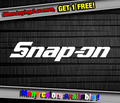Snap-On SnapOn Tools Logo Vinyl Sticker Decal Graphic Truck Wall Laptop Cell