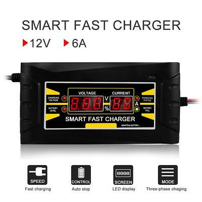 Full Automatic Car Battery Charger 110V/220V To 12V 6A 10A Smart Fast Power L5T5