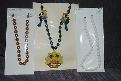 Jimmy Buffett PARROT HEAD SPECIAL Cheeseburger in Paradise Beaded Necklace +More