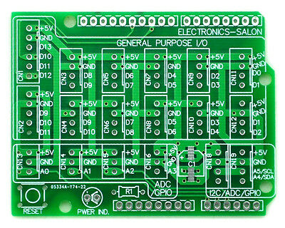 1pcs I/O Extension PCB for Arduino UNO R3 Board DIY.