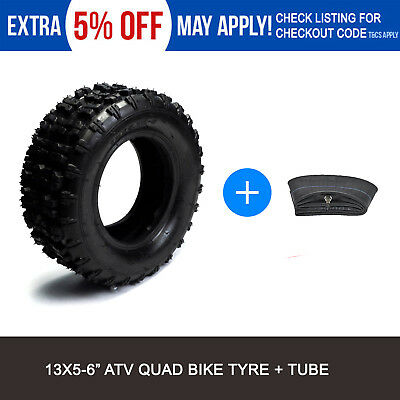 "1x 13x5.00 - 6"" inch Tyre Tire + TUBE ATV QUAD Bike Gokart Scooter Buggy Mower"
