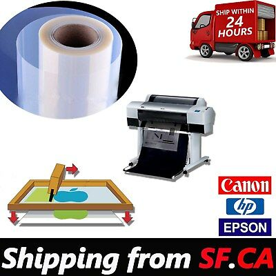 "36""x100' /roll,Premium Waterproof Inkjet Silk Screen Printing Transparency  Film"