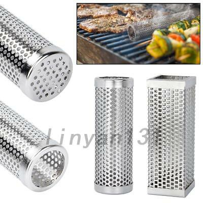 New Outdoor Cooking BBQ Smoker Tube Generator Grill Cold Smoke Mesh Barbecue