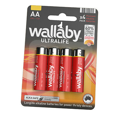 Size AA Wallaby Ultralife Alkaline Batteries 4/8/16/48/60 AUS FAST POST 4 Pack