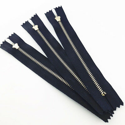 10pcs 6/10/15/20cm Closed End Zip Zipper Metal Heavyweight Black YKK Zipper