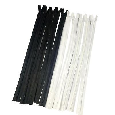 10pcs Invisible Closed End Zip Zippers Nylon Concealed Zippers 20/40/50/60/80cm