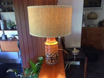 Vintage 1960s 1970s Jersey Pottery Lamp Base