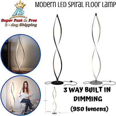 Modern LED Floor Lamp Dimmable Tall Standing Twist Bedside Livingroom Home Light