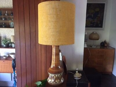 Vintage 1960s 1970s Very Large Jersey Pottery Lamp Base
