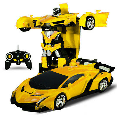 Kids Toy Transformer RC Robot Sports Car Shock Resistant Remote Control Car