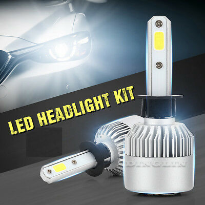 2*200W 20000LM H1/4/H7/11 9003 9005 LED Scheinwerfer COB Chip Auto Car Headlight
