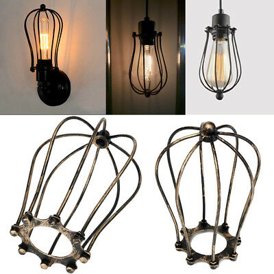 2 PC VINTAGE WIRE LAMP SHADE FRAME FORM LAMP PARTS CLOTH RESTORATION ...