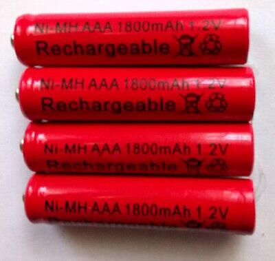 4x 1800 mAh 1.2V AAA NIMH NI-MH Rechargeable Battery Cell Batteries