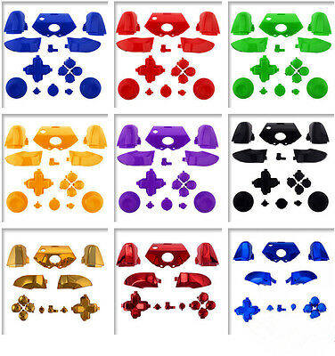 Buttons  Replacement Sets for Microsoft Xbox One Controller Chrome Solid Color