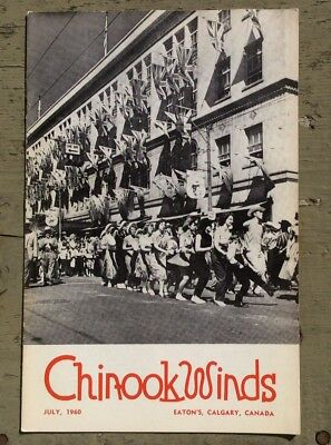 Vintage July 1960 Calgary Stampede Edition of T Eaton Co Chinook Winds Staff