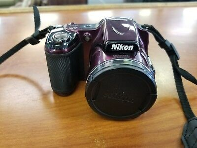 NIKON Coolpix L820 Digital 16.0 MP Purple Camera 30X Zoom Wide Full HD