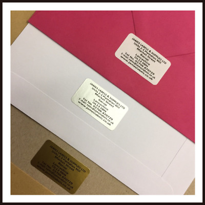 Personalised Address Labels X 260 - Gold Silver Or White *Best On Ebay!!*