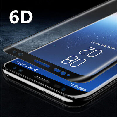 9H 6D Curved Full Cover TEMPERED GLASS SCREEN Film FR SAMSUNG Galaxy S8 S9 Plus