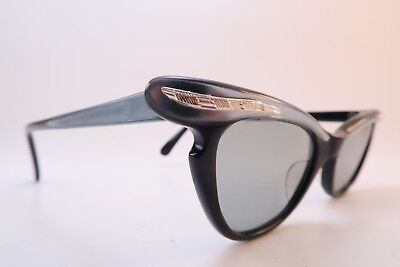 Vintage 50s NOS Catseye Cats eye sunglasses OPTOS Size 44-20 France women's SML