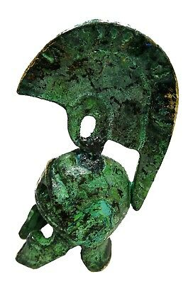 Ancient Greek Bronze Museum Replica Vintage Sparta Helmet mini