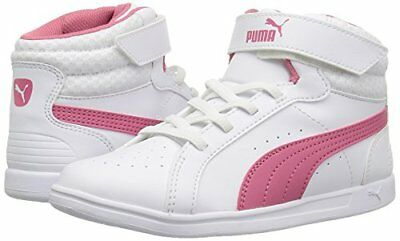 c8d5061553c24c NWT PUMA Ikaz Mid V2 V Little Girls Shoes White Pink 363926 01 SELECT SIZE