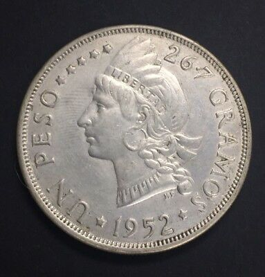 Dominican Republic Peso 1952 Silver. Only 20K Minted