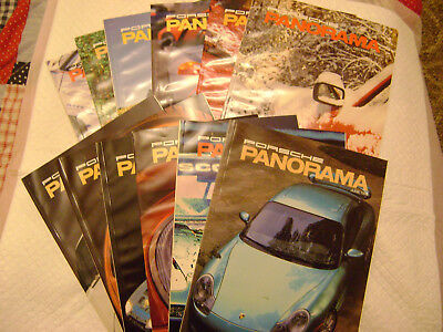 1999 Porsche PCA Panorama Magazine 1ull year Issues ,*NEAR MINT CONDITION