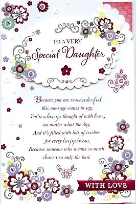 Daughter Birthday Extra Large Card With Lovely Verses