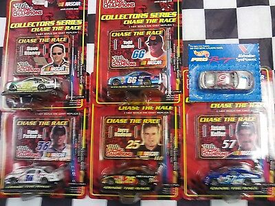 LOT OF 6 - 1/64 NASCAR racing cars Chase the Race Nadeau Bodine Keller Blaney