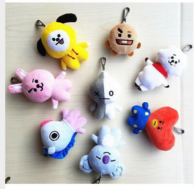 BT21 BTS Bantan Boys Stuff Soft Toy Plush Keychain