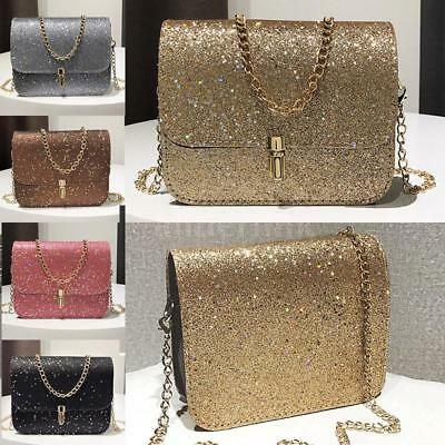 Women Sequin Glitter Bag Purse Shoulder Crossbody Messenger Handbag Bags F5U8