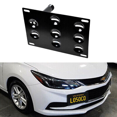 Front Bumper Tow Hook License Plate Bracket Adapter For 17-up Gen2 Chevy Cruze