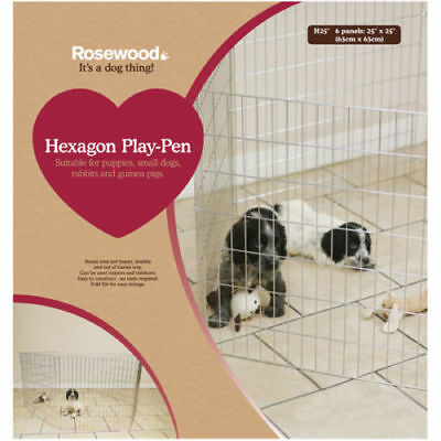 Rosewood Options Hexagon 6 Sided Puppy Rabbit Small Animal Pet Playpen Enclosure