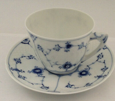 Dainty Royal Copenhagen Blue Cup & Saucer #102-69 and 102-44