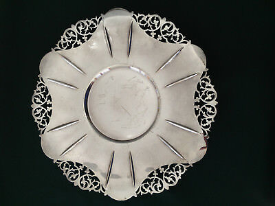"""Vintage BIRKS SilverPlate /filigree 10"""" dish/plate for desserts, cookies, sweets"""