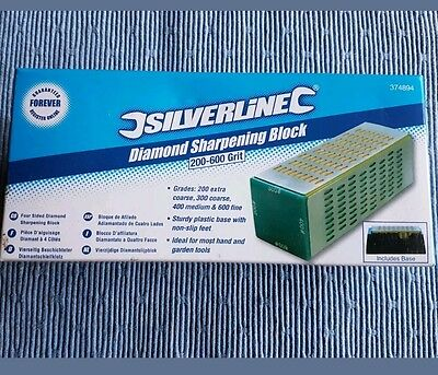 Silverline Sharpening Block 200 - 600 Grit